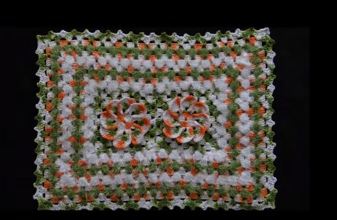 Tapete de Crochê Euro Flor artesanal Material e Vídeo