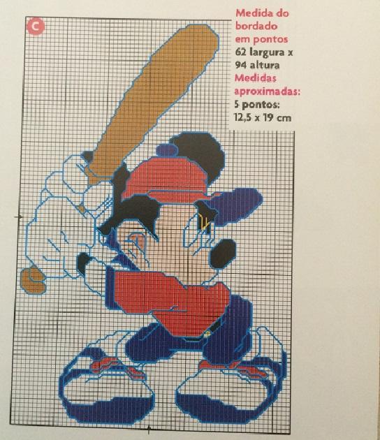 Gráficos do Mickey Em Ponto Cruz – Idéias e Foto