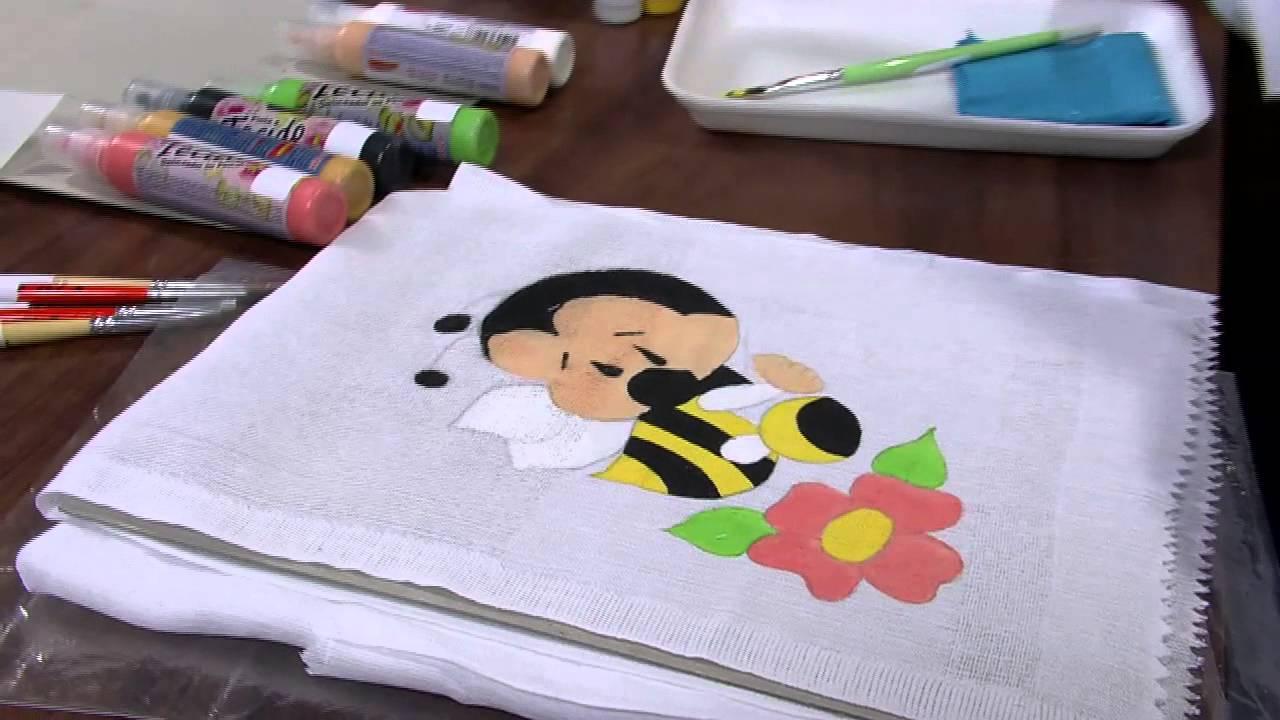 Pintura em Fralda – Abelha Fofinha - Dicas e Vídeo | Bigtudo