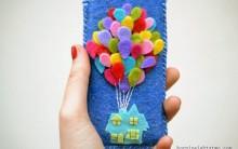 Capa de Celular Com Feltro Motivo Balões – Como Fazer