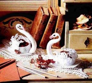 Como Fazer Cisnes Feito em Crochê – Modelos e Gráficos