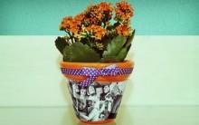 Vasos de Flores Decorados com Fotos – Material e Como Fazer