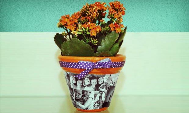 Vasos de flores decorados com fotos material e como fazer for Plantas de plastico para decoracion