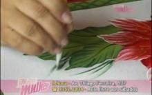 Como Pintar Flor e Folhas em Tapete Emborrachado – Fotos, Ricos e Passo a Passo.