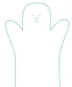 Fantoche de Coelho Feito em Feltro – Molde e Passo a Passo