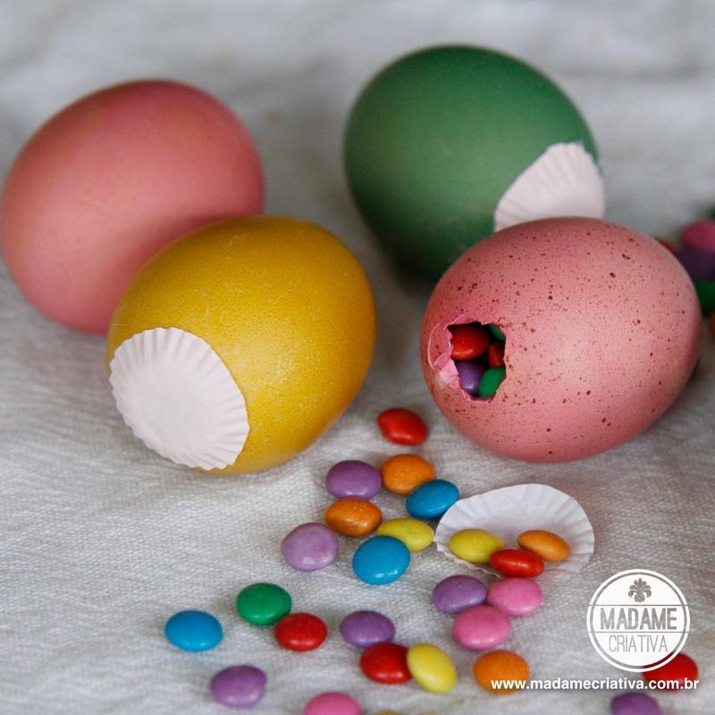 Como Pintar Cascas de Ovos Para a Páscoa Passo a Passo # Como Decorar Ovo De Pascoa