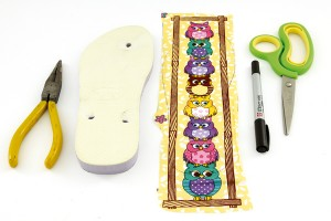 Chinelo Personalizado com Tecido – Materiais e Como Fazer