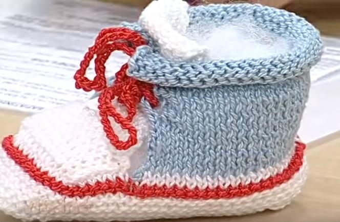 Botinha de Bebê Com Cadarço - Material e Passo a Passo