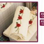 Como Bordar Flores Em Toalha de Banho – Material e Passo a Passo