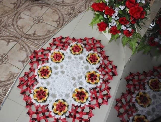 Flor Em Pétalas de Crochê  Material