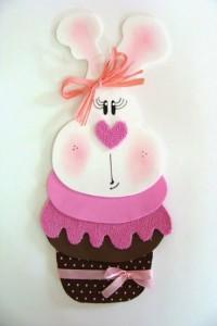 Coelhinha em Formato de Cupcake – Como Fazer