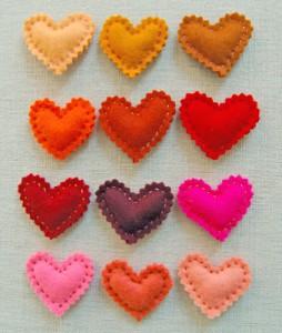 Coração Feito de Feltro – Dicas, Moldes e Passo a Passo