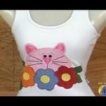 Camiseta Gatinho Florido Feito Com Patch Aplique – Fotos e Como Fazer