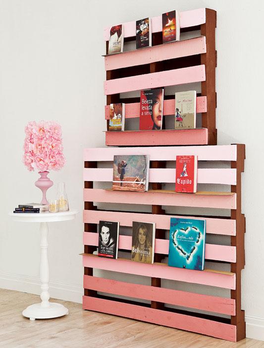 Como fazer estante de pallet material e passo a passo for Adornos para decorar muebles