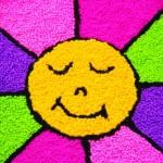 Ponto Russo Tapete Margarida Colorida com Agulha Mágica – Material e Passo a Passo