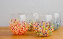 Como Decorar Vasos de Vidro com Tinta – Passo a Passo