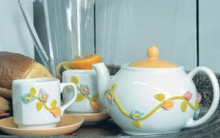 Jogo de Chá Decorado Com Biscuit – Material e Passo a Passo