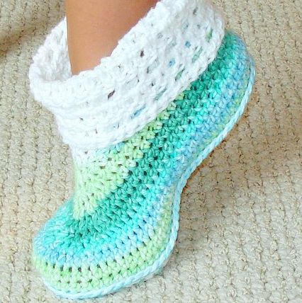 Free Crochet Patterns Booties For Adults : Botas de Croch? Para Adulto - Fotos, Materiais e Como Fazer