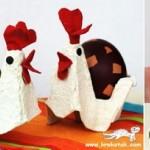 Galinha Feita Com Caixa de Ovos – Como Fazer