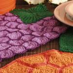 Toalhinhas De Crochê em Forma de Uva – Passo a Passo e Gráfico