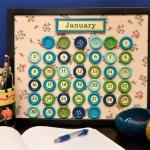 Calendário Feito com Botões – Como Fazer