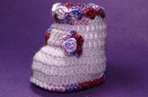 Botinha para Bebê Feito de Crochê – Vídeo do Passo a Passo