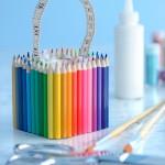 Caixa Decorada com Lápis de Cor – Como Fazer Passo a Passo