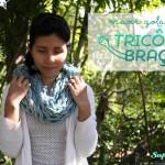 Maxi Gola de Tricô de Braço – Passo a Passo
