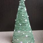 Árvore de Natal Feita de Linha – Material e Como Fazer