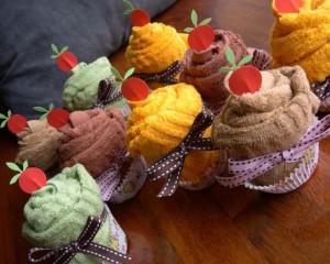 Cupcake de Toalha – Como Fazer