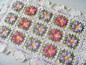 Tapete crochê Floral de Barbante – Material, Vídeo de Como Fazer