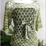Blusa de Crochê para o Verão – Foto, Gráfico e Passo a Passo