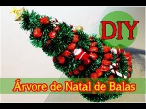Árvore de Natal Feita com Balas – Materiais e Vídeo