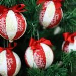 Bolas de Natal com Tecido – Como Fazer Passo a Passo