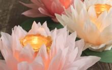 Luminária de Vidro com Flor de Papel – Materiais e Como Fazer