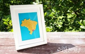 Quadro Decorativo Mapa do Brasil – Como Fazer