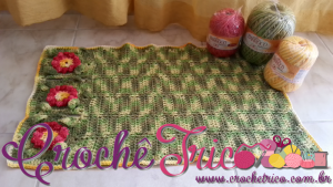 Tapete de Crochê Flor Puff – Gráfico e Vídeos