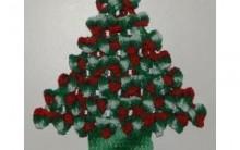 Pinheiro Natal Feito de Crochê – Material e Passo a Passo.