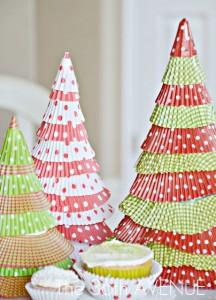 Árvore de Natal com Forminha de Doces – Como Fazer