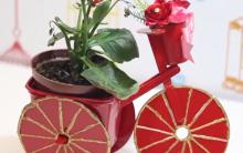 Bicicleta Decorativa Com Materiais Recicláveis – Vídeo