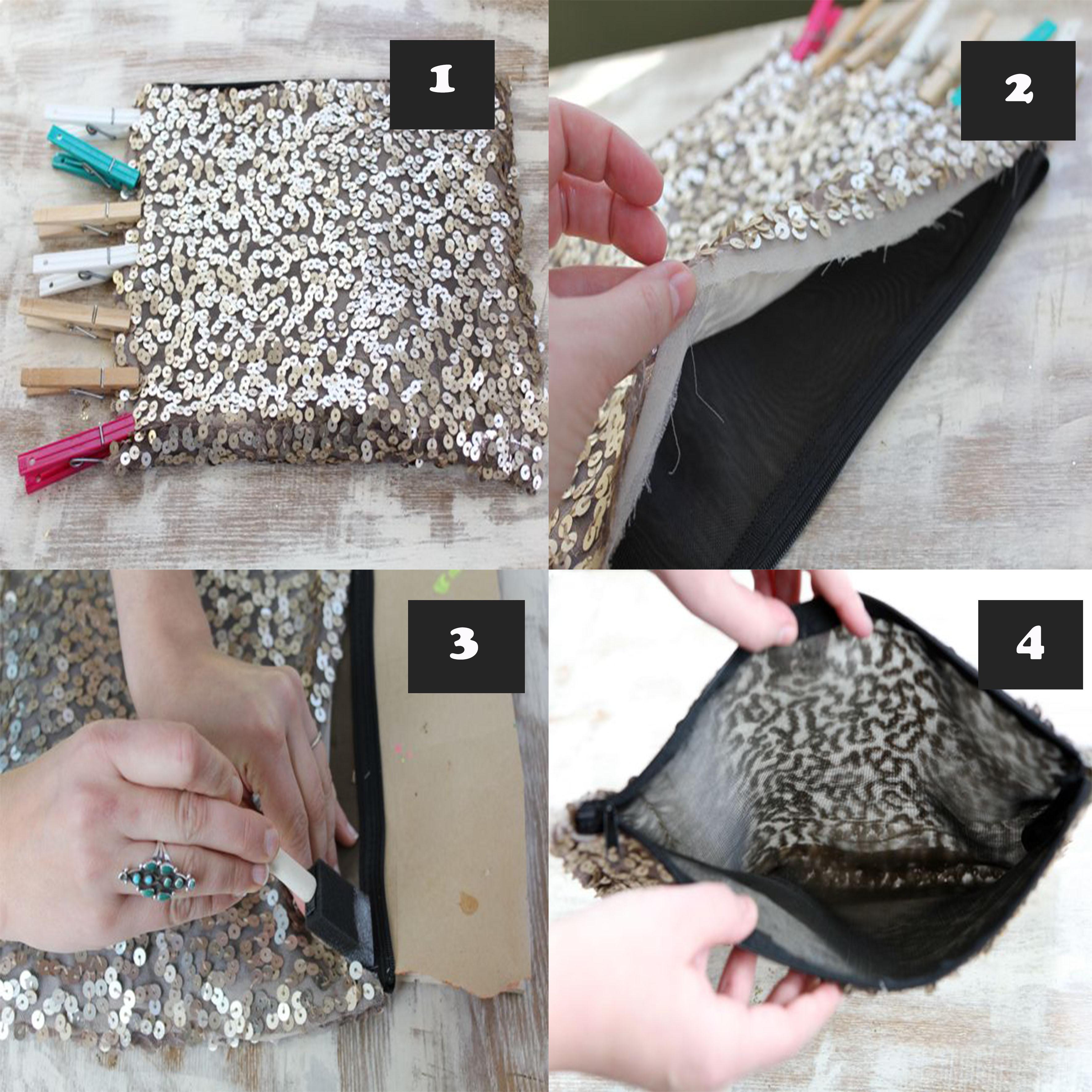 Bolsa De Tecido Passo A Passo Como Fazer : Bolsa de paet? material e como fazer