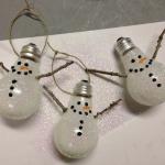 Boneco de Neve de Lâmpada – Material e Como Fazer