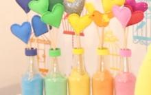 Garrafas Decorativas Feitas com Giz – Como Fazer e Vídeo