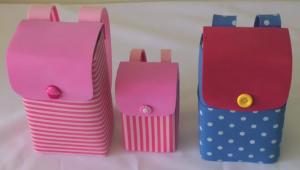 Mochilinhas Feita Com Caixa de Leite – Lembrancinha – Material e Como Fazer