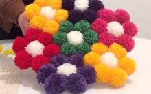 Tapete de Flor Feita de Pompom – Material e Vídeo