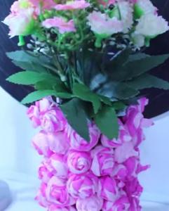 Vaso Com Flores de Crepom – Vídeo de Como Fazer