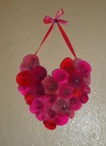 Coração Com Flores Feito de Papel – Molde, Material e Passo a Passo.