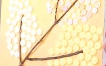 Quadro Decorativo Feito Com Botões – Materiais e Vídeo