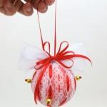 Bola de Natal Com Isopor – Material e Passo a Passo