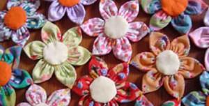 Flor de Fuxico de Ponta – Como fazer Passo a Passo